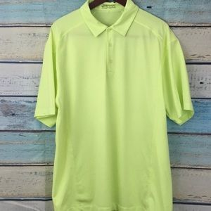 Nike Golf Fit Dry Yellow Green Polo Shirt